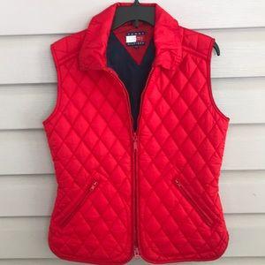 Vintage Tommy Hilfiger Red Quilted Vest Size M